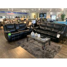 Generation Trade Emerson Black Reclining Sofa and Loveseat (also available in brown)