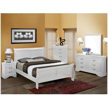 4 piece Queen white bedroom set