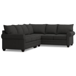 Bassett Furniture - Alex Roll Arm Left Sectional - Charcoal