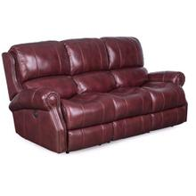 Mia Home Leather Power Sofa in Mahogany