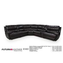Futura Leather Reclining Power Sectional
