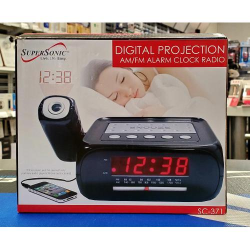 Digital Projection AM/FM Alarm Clock Radio