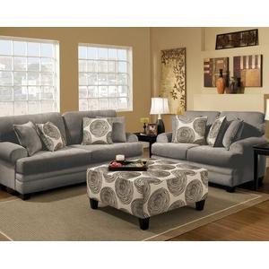 Albany Industries - Stationary Smoke Microsuede Sofa