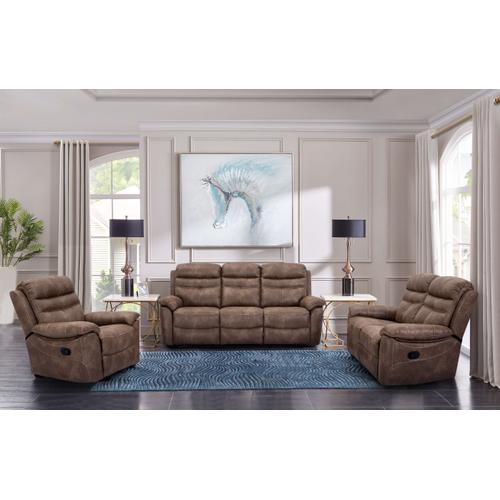 Cheers Leather Reclining Loveseat