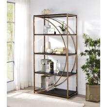 Gold & Black Modern Etagere or Display Rack by Homelegance, HM19009