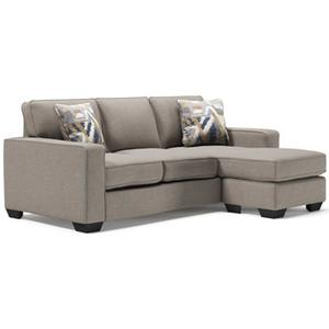 Ashley 5510418 Chaise Sofa in Greaves Stone / 100%olyester / CC:  W / 37 in x 85 in x 62 in