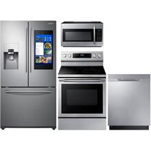 SAMSUNG 4-PIECE FAMILY HUB APPLIANCE PACKAGE