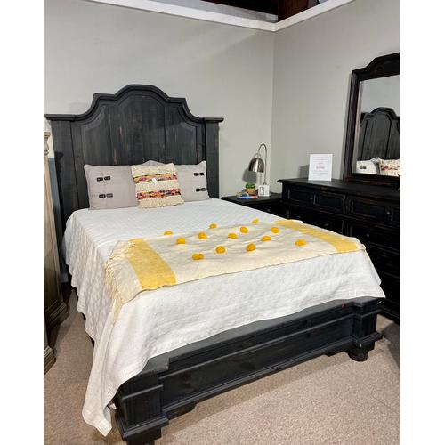 Nero Black King Bed, Dresser, Mirror, Chest and Nightstand