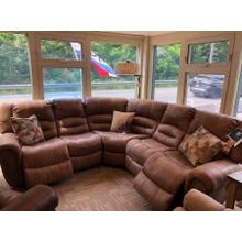 """Double power reclining sectional. 103"""" x 103""""."""