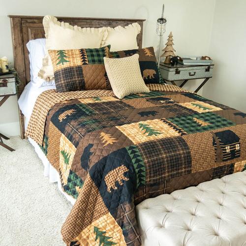Brown Bear Full/Queen Quilt Set