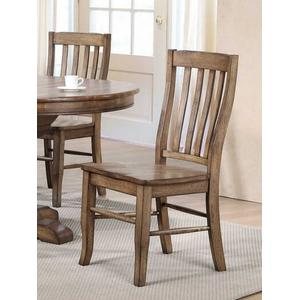 """Winners Only - 57"""" Round Table with 4 Side Chairs"""