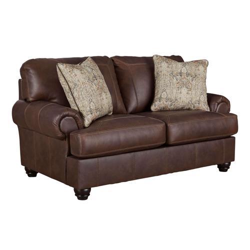 Bearmerton Leather Loveseat