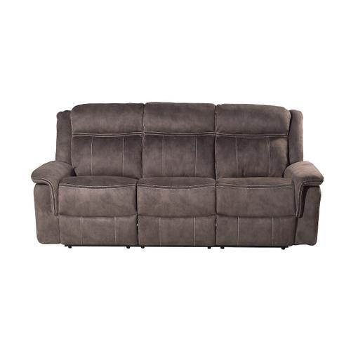 Kisner Lorenzo Brown Reclining Sofa