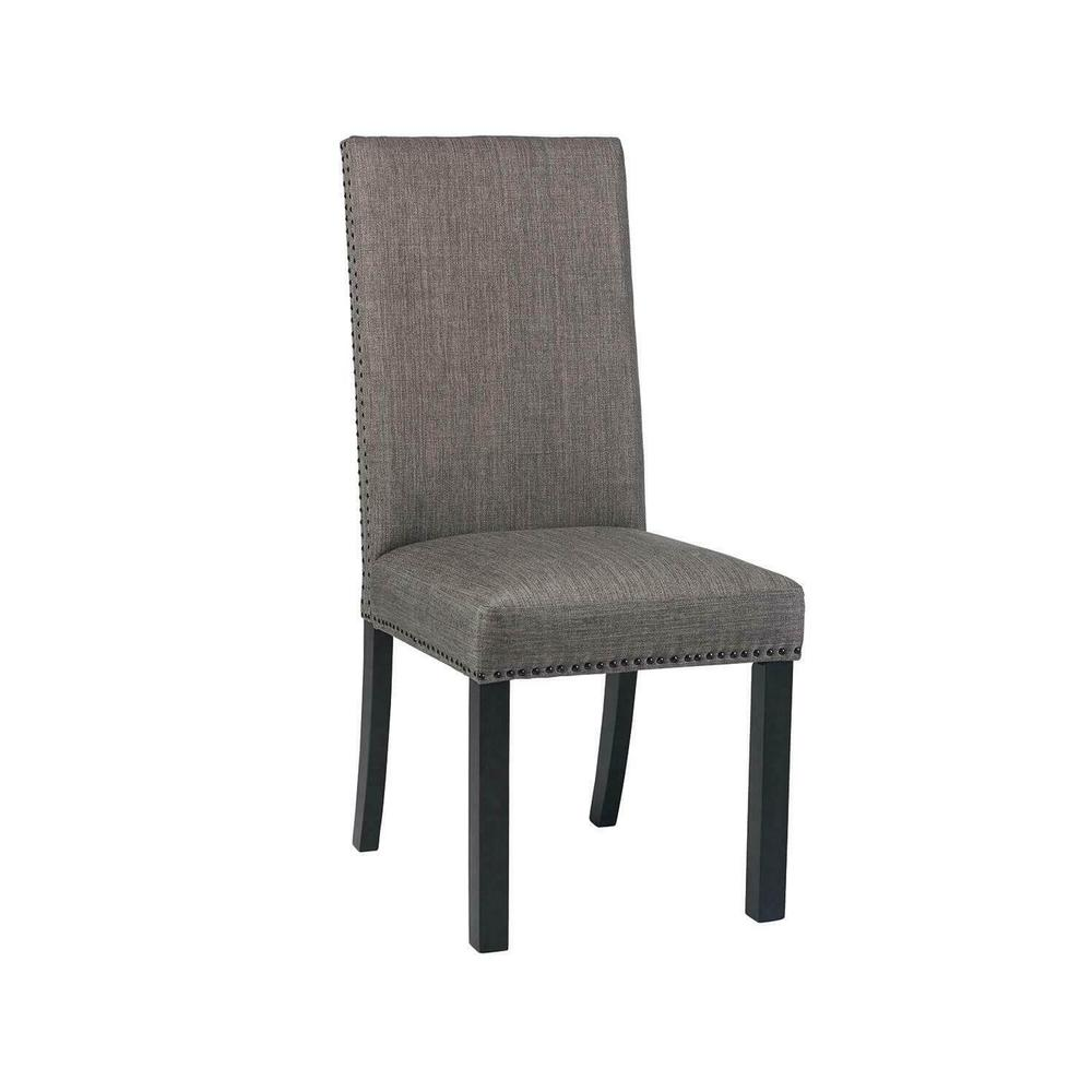 Jamestown Upholstered Side Chairs Charcoal 6 Piece Set