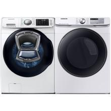 See Details - SAMSUNG 4.5 Cu. Ft. AddWash Front Load Washer & 7.5 Cu. Ft. Smart Electric Dryer with Steam Sanitize  - Open Box
