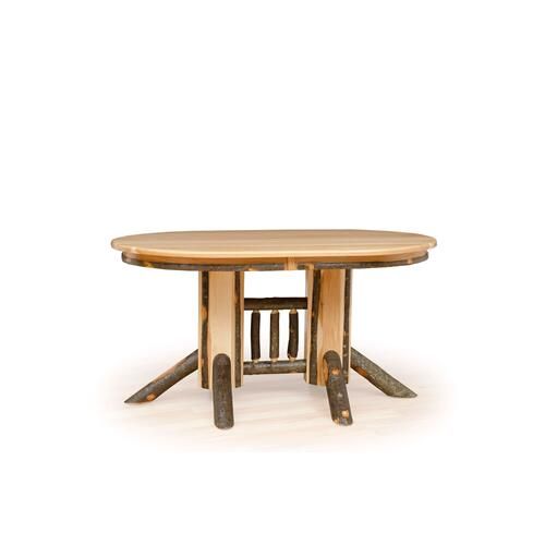 Hickory Double Pedestal Table