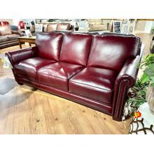 See Details - Chesapeake Burgundy Leather Sofa