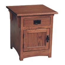 See Details - Mission End Table With Door