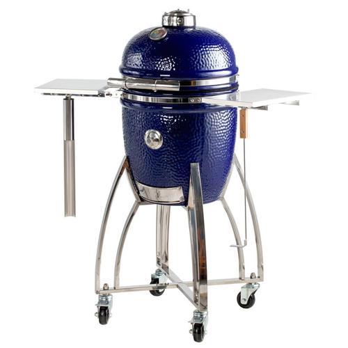 """Saffire Kamado - Platinum - Med 15"""" - Blue & Cart Kit"""