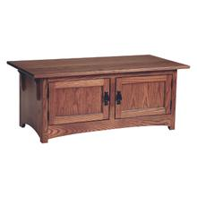 See Details - Mission 2 Door Coffee Table