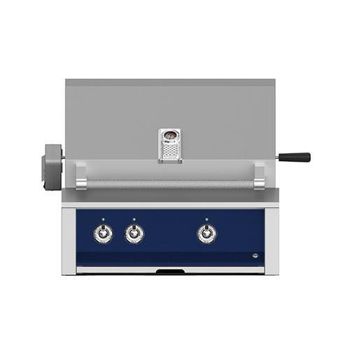 "Product Image - Aspire By Hestan 30"" Built-In U-Burner, Rotisserie Grill LP Midnight Blue"
