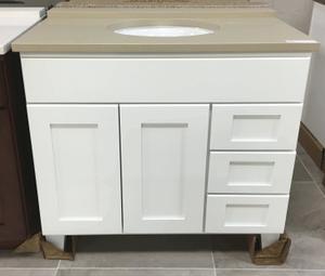 "Osage, 36"" 3 Drawer Vanity, Birch White Product Image"