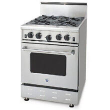 "24"" BlueStar - 4 Open Residential Nova Burner (RNB). Gas Range with 3.5 Cu. Ft. Convection Oven"