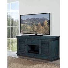 Villa Distressed Teal Entertainment Console