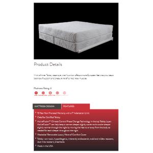 Heritage Sleep - Restore Plush Talalay Latex 12in