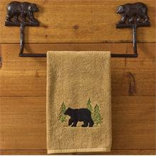 Cast Bear Towel Bar 16""