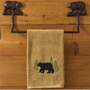 "Cast Bear Towel Bar 16"""