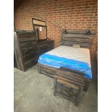 Queen Storage Bed, Dresser, Mirror, Chest and Nighstand