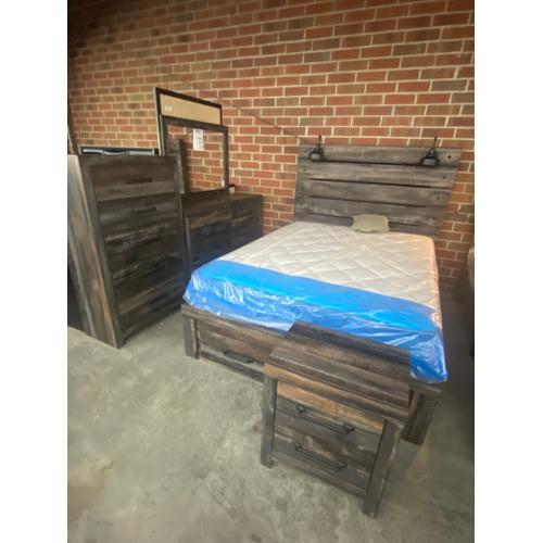 Gallery - Queen Storage Bed, Dresser, Mirror, Chest and Nighstand