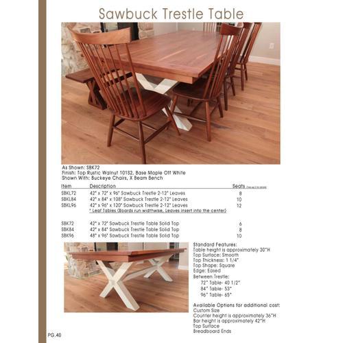Door County Furniture - Sawbuck Table