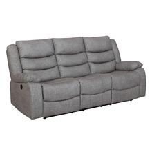 Granada Reclining Sofa in Arcadia Beamer Gray Fabric