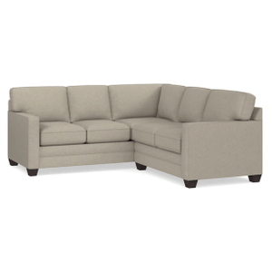 Alex Track Arm Small Sectional - Straw