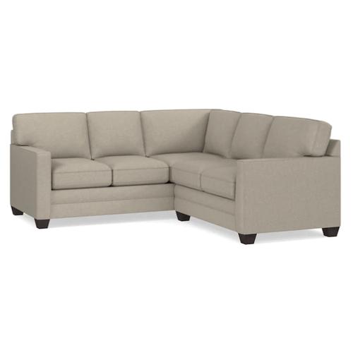 Bassett Furniture - Alex Track Arm Small Sectional - Straw