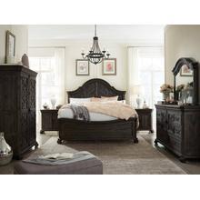 Bellamy Queen Panel Bedroom Set: Queen Bed, Nightstand, Dresser & Mirror