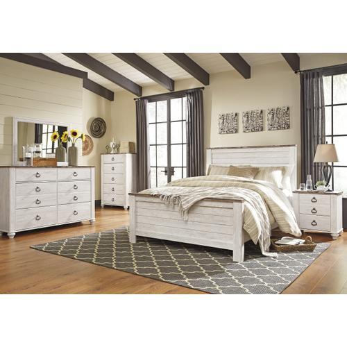 Willowton Queen Bed, Dresser, Mirror
