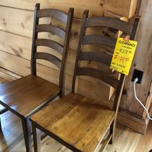 A AMERICA SIDE CHAIRS ( PAIR )