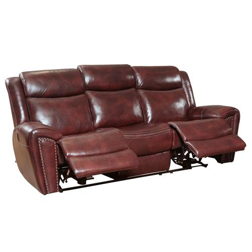 PRIME A705-403-1739 Barclay Steamboat Oxford Top Grain Leather Match Power Reclining Sofa