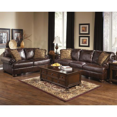 Axiom Leather Sofa & Loveseat