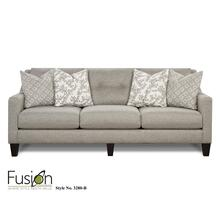 Sofa | Stone Grey & White Brown Accents