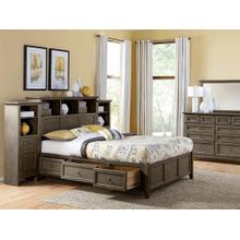 McKenzie King Bookcase Storage Bed with Piers