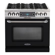 "Connoisseurian 36"" Dual Fuel Self Clean Range (Black)"