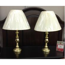 View Product - Pair of Brass Table Lamps