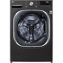 View Product - 5.0 CF Front Load Washer, Coldwash, ThinQ - Black Steel; 7.4 CF Electric Dryer, TurboSteam, ThinQ - Black Steel