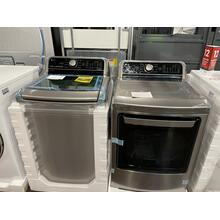 4.8 cu. ft. Mega Capacity Smart wi-fi Enabled Top Load Washer & 7.3 cu. ft. Ultra Large Capacity Smart Top Load Electric Dryer **OPEN BOX ITEM** ANKENY LOCATION
