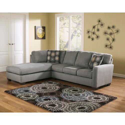 Ashley Furniture - Zella Sofa Chaise Sectional Charcoal
