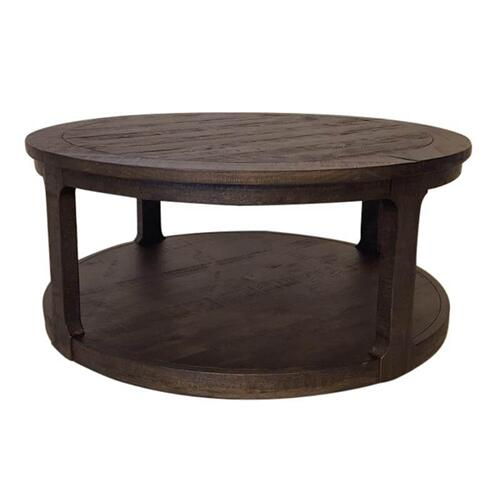 Boswell Round Cocktail Table with Casters